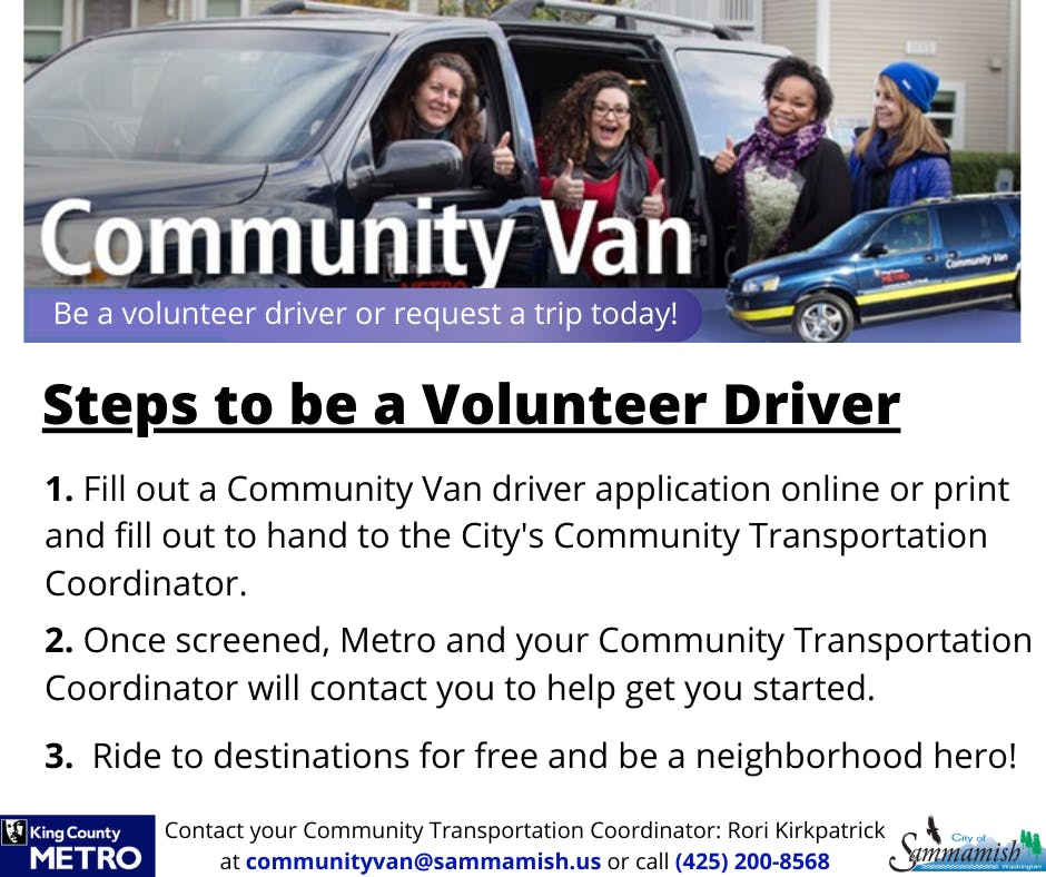 Steps to be a Volunteer Driver