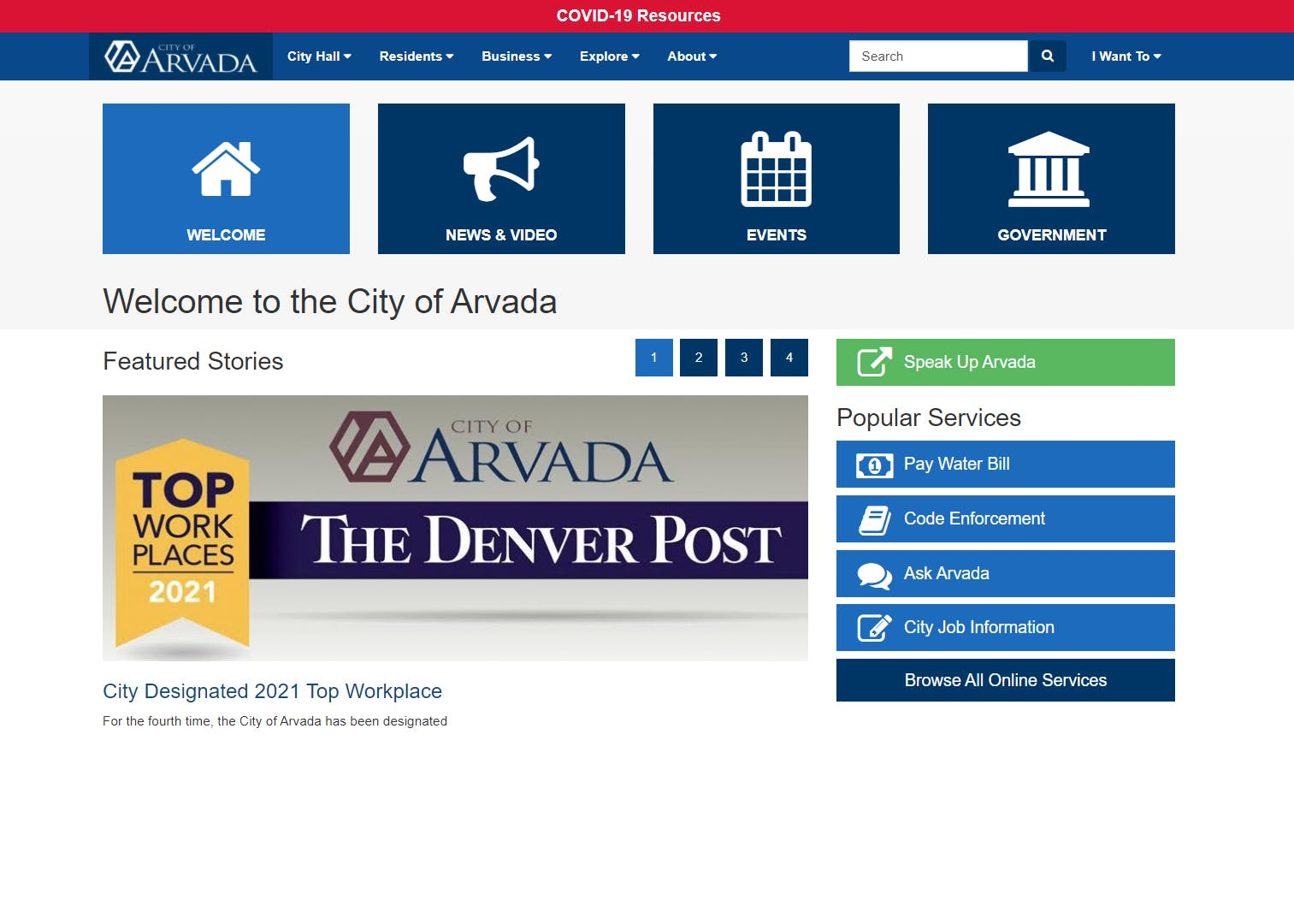 Arvada.org in 2021