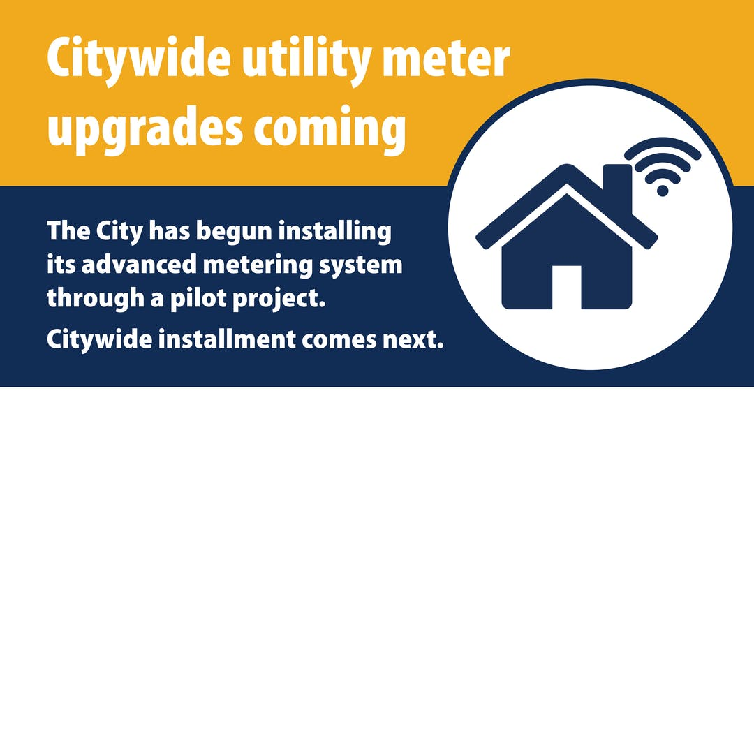 Your utility meter is being upgraded.