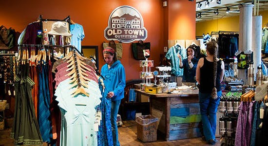 Customers shopping at Old Town Outfitters April 24, 2014