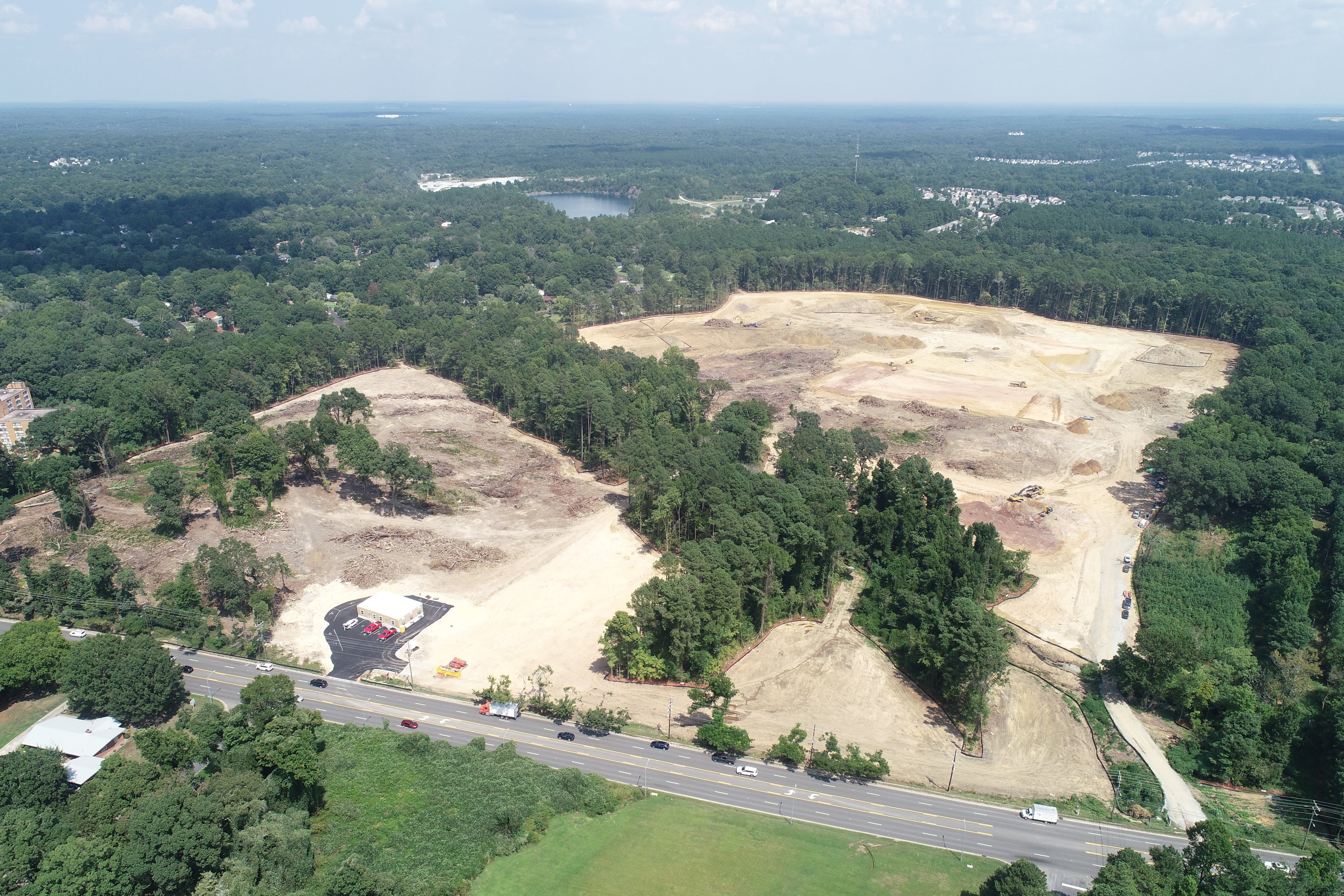 Aerial of Northern High School Site - August 2021