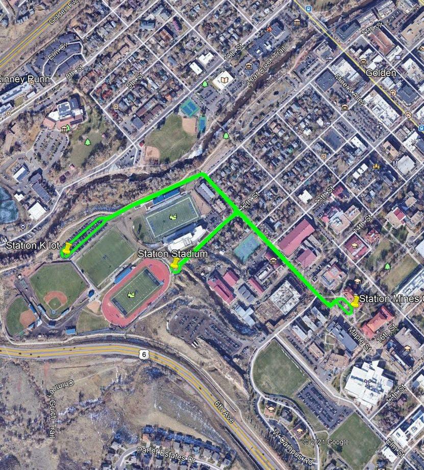 Autonomous Electric Transit Vehicle Parking Lot Route