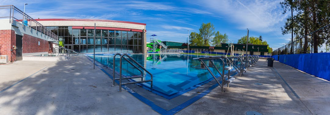 The renovated Echo Hollow Pool & Fitness Center