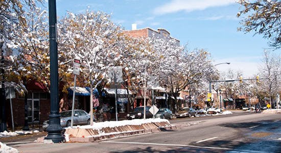 Downtown Main Street in the Winter