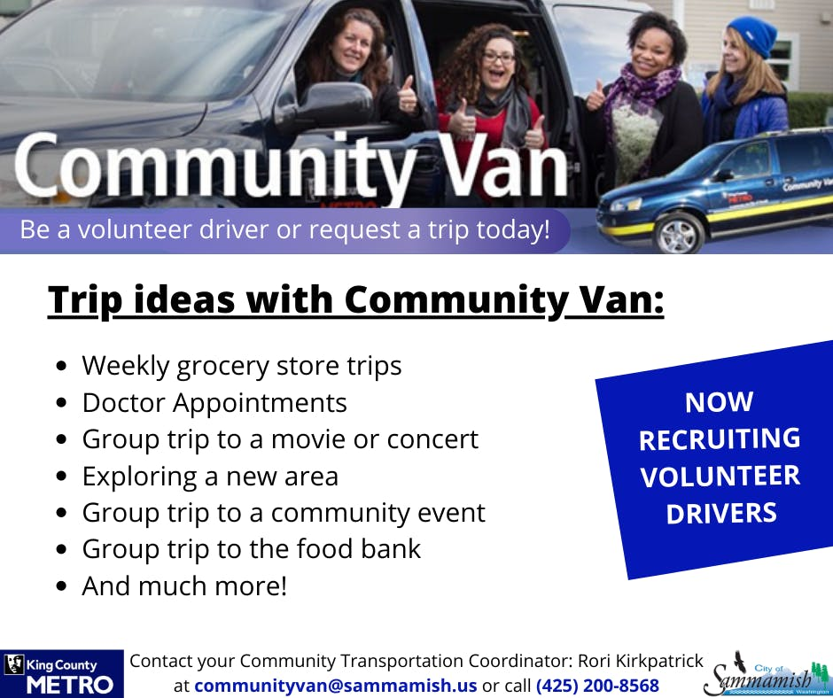 Trip Ideas with Community Van