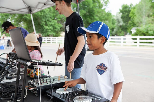 Youth making music
