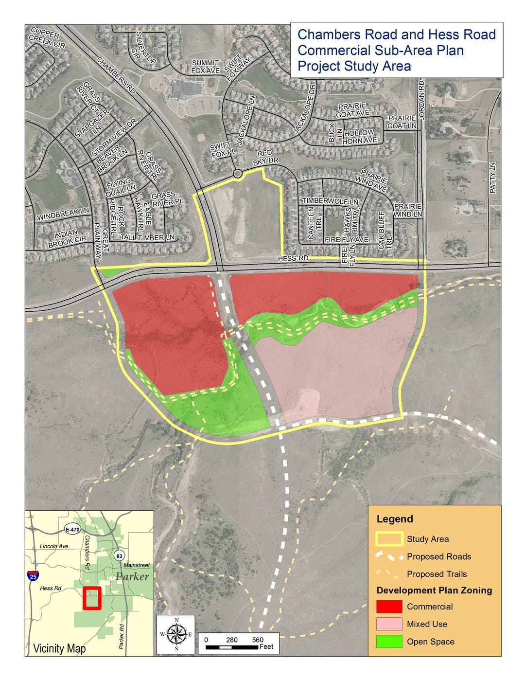 View of Chambers and Hess Subarea Plan Study Area