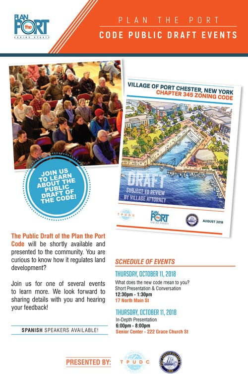 Plan the Port – Code Public Draft Events