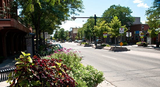 Downtown Main Street in the Summer
