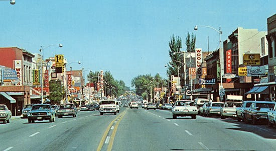 Historic Main Street in the 1970s