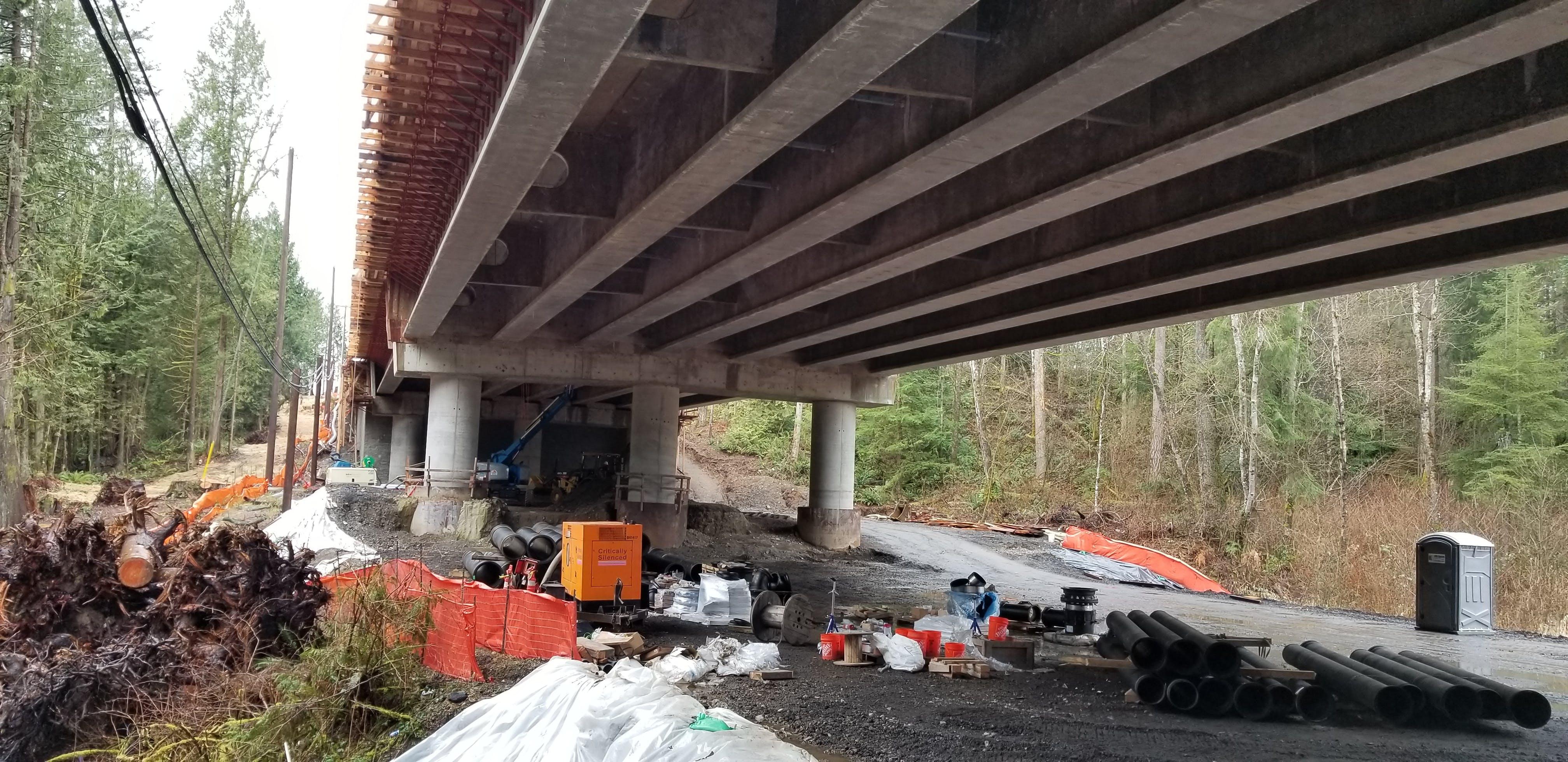 Dry Utilities Under Bridge