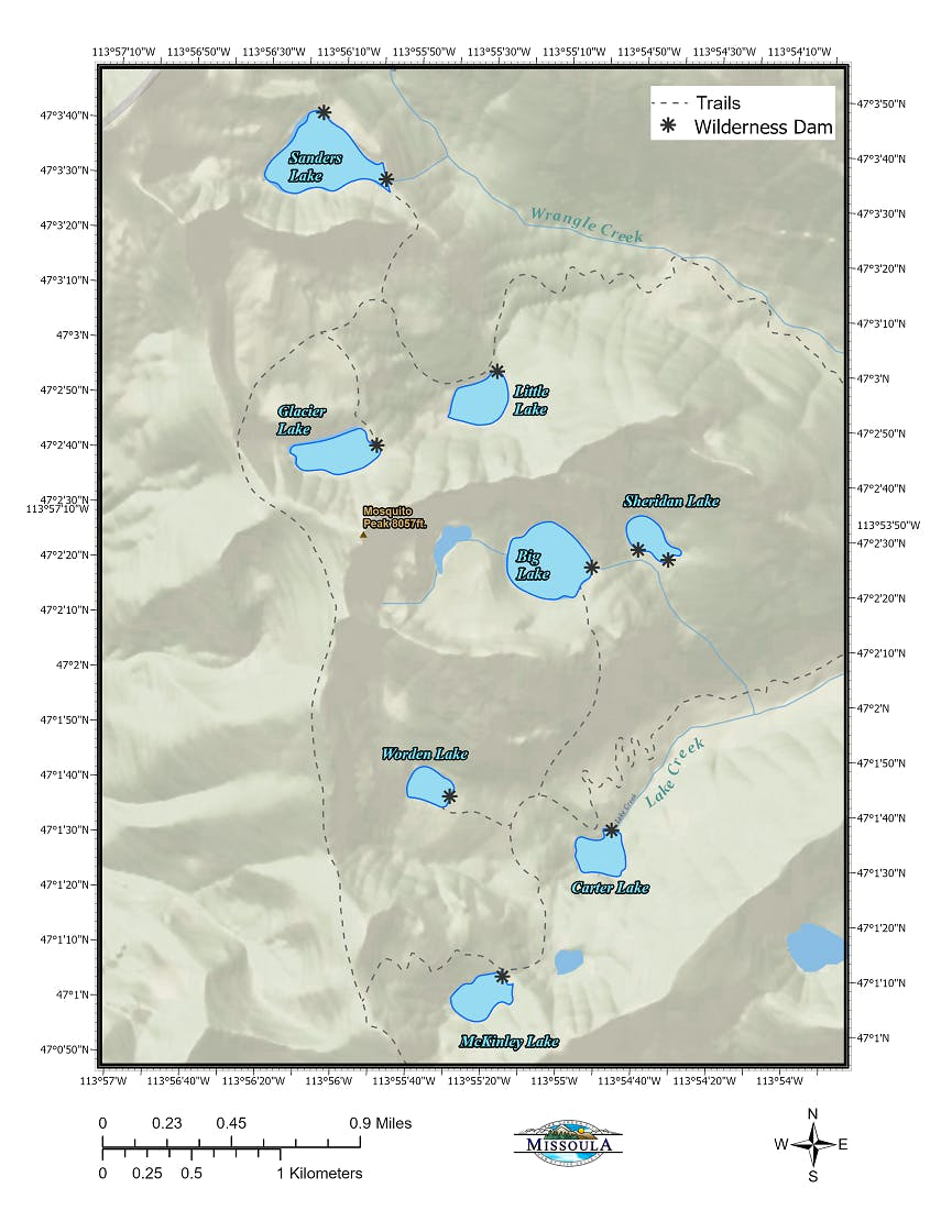 Wilderness Lakes Map.png