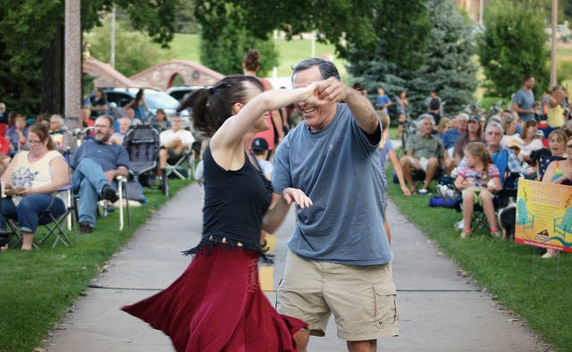 Dancing at Lagoon Concert Series