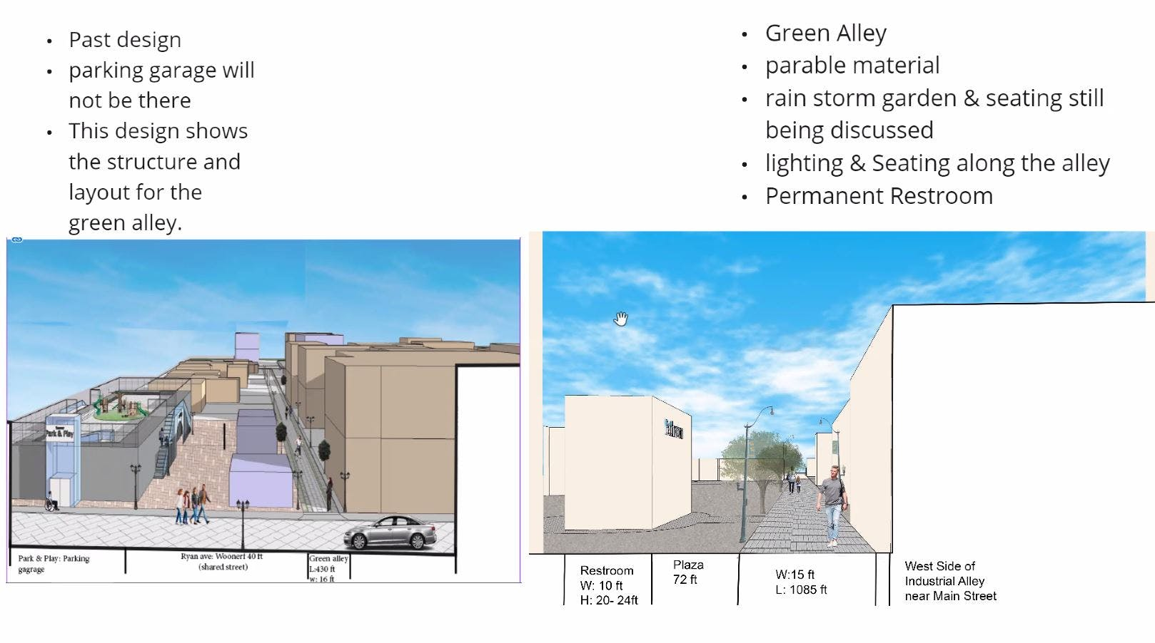 Green and Walkable Alley Designs